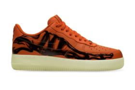 Nike Halloween Air Force 1 'Orange Skeleton' sneaker