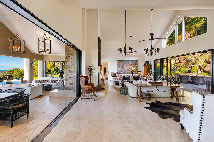 Noosa House $15 million main lounge area