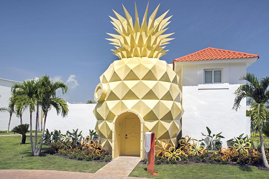 Spongebob Themed Accomodation pineapple front