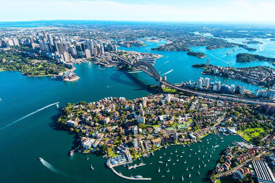 Sydney City aerial view