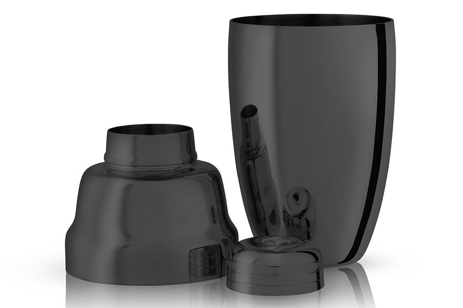 Viski Gunmetal Cocktail Set shaker