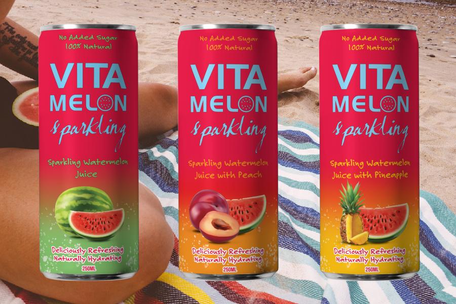 Three cans of Vitamelon