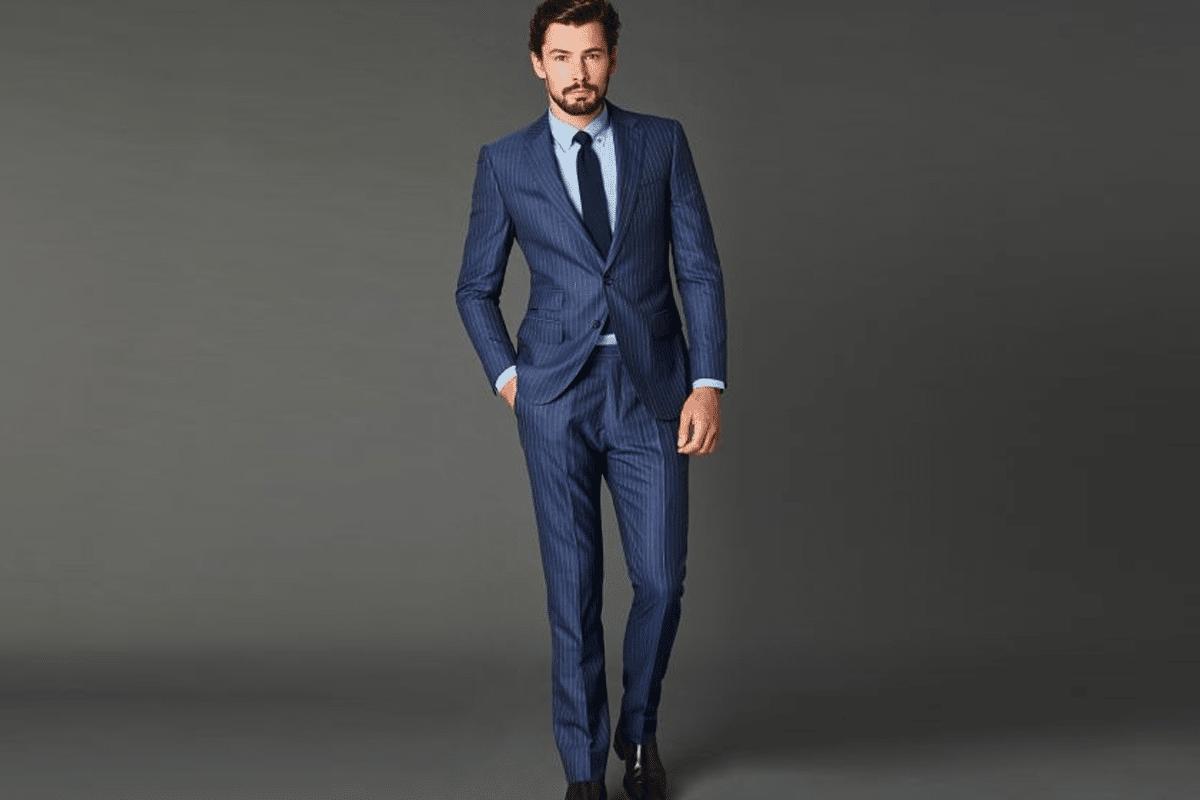 Farage blue suit