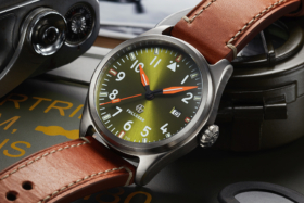 FullGear Pioneer watch with olive dial