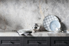 Fairfax & Roberts No. 19 Tableware on a marble platform