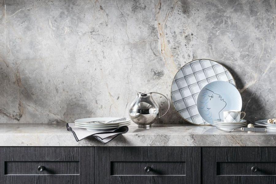 Fairfax & Roberts No. 19 Tableware on a marble platform