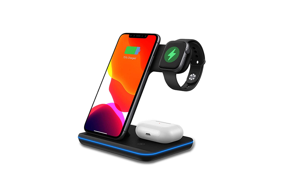 ThunderB 3 in 1 Wireless Charger Station for iPhone Christmas Gift Guide Tech Head