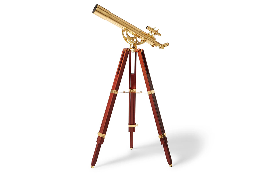 Christmas Gift Guide Luxury Celestron Ambassador 80mm Brass and Mahogany Telescope