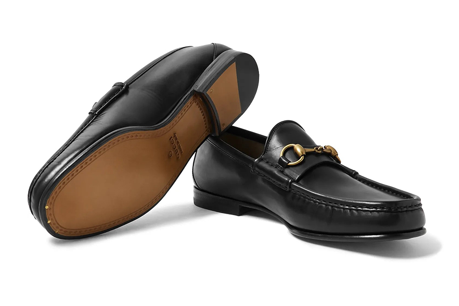 Christmas Gift Guide Luxury Gucci Roos Horsebit Leather Loafers