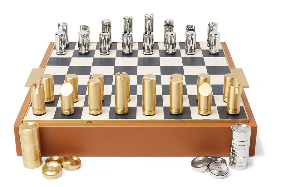 Christmas Gift Guide Luxury Ralph Lauren Home Fowler Leather Chess Set
