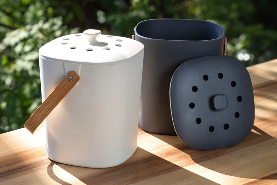 Christmas Gift Guide Bamboo Composter Countertop Composter