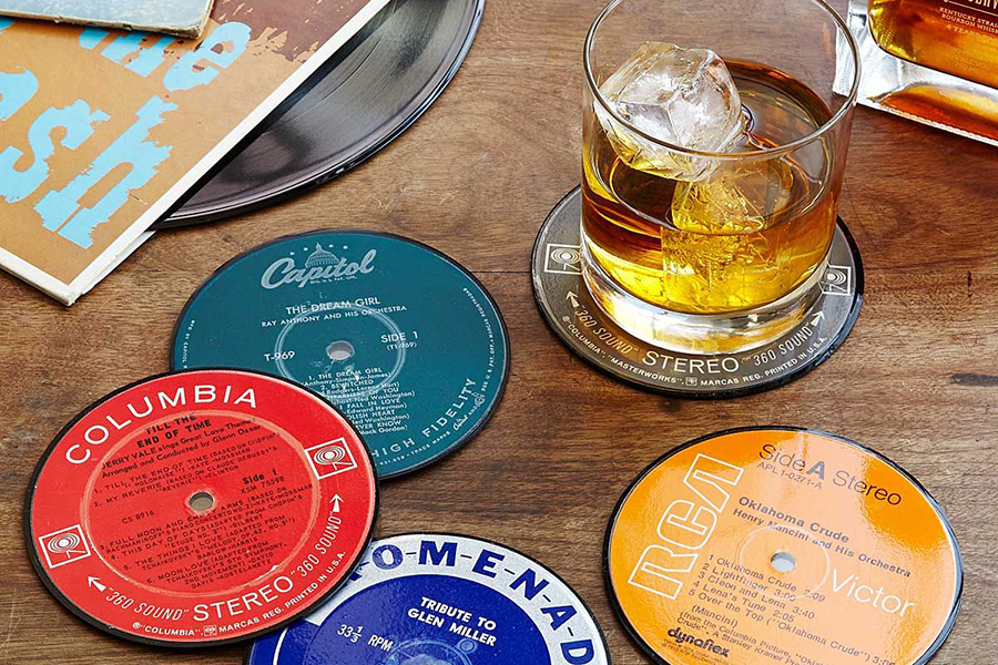 Upcycled Record Coasters Christmas Gift Guide Music Lover