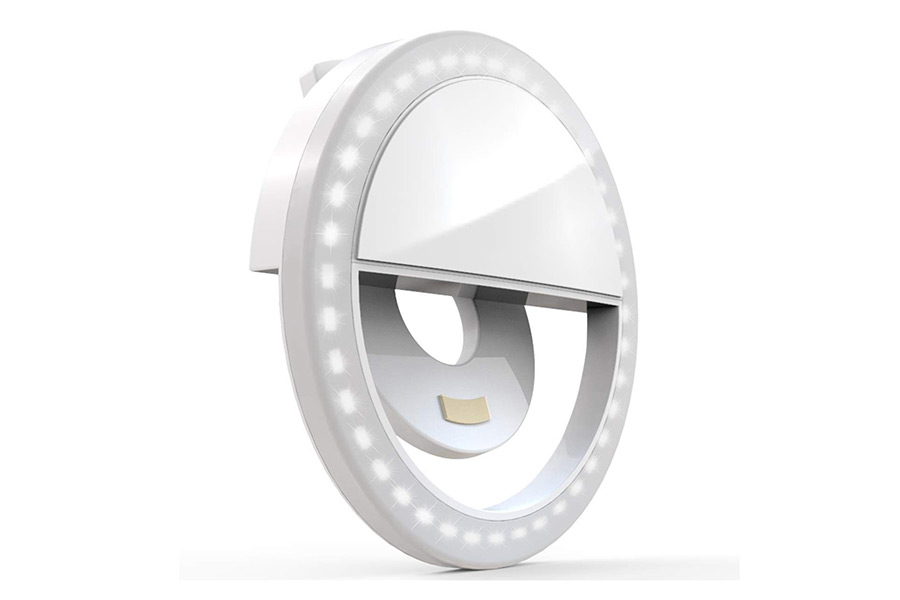 Selfie Ring Light, XINBAOHONG Rechargeable Portable Clip-on Christmas Guide Photography Enthusiast