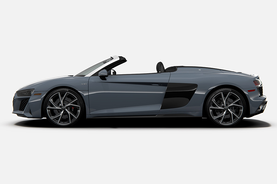 2021 Audi R8 RWD Coupe and Spyder side