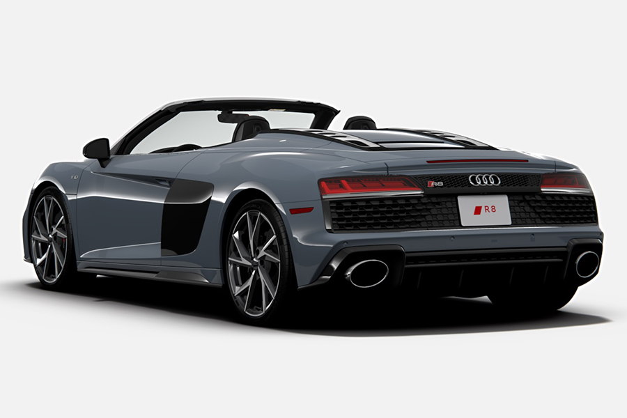2021 Audi R8 RWD Coupe and Spyder back