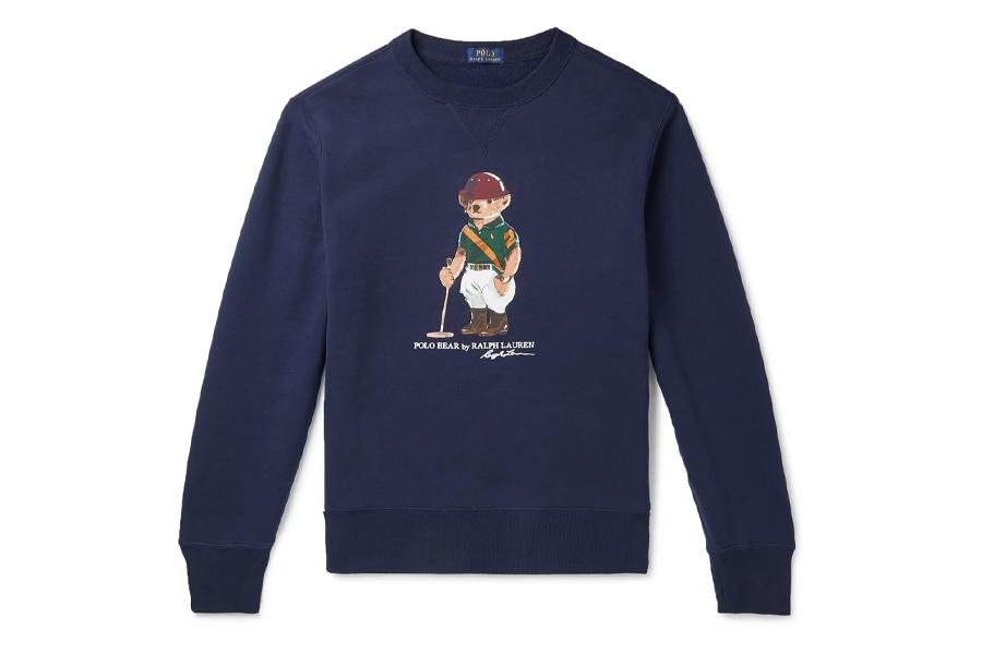 Polo Logo-Print Fleece-Back Cotton-Blend Jersey Sweater