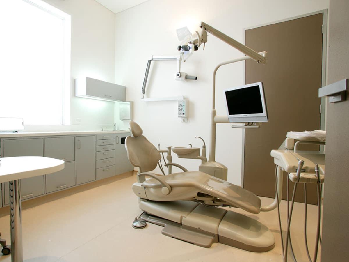 mint dental cabinet interior