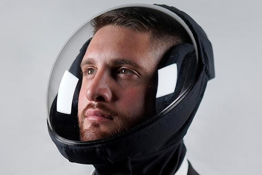 man wearing Air X Microclimate helmet