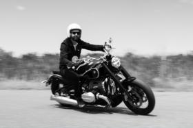 A man riding a BMW Motorrad R18