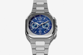 Bell & Ross BR05 Chrono blue dial watch