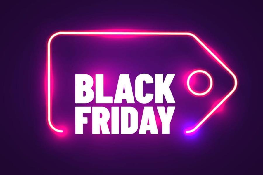 Black Friday neon graphic