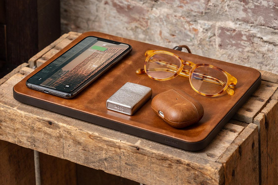 Courant Catch 3 Wireless Charging Pad on table