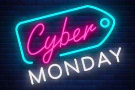 Cyber Monday neon sign logo