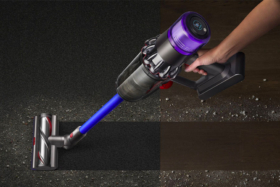 Dyson V11 Outsize cleaning two different types of surfaces