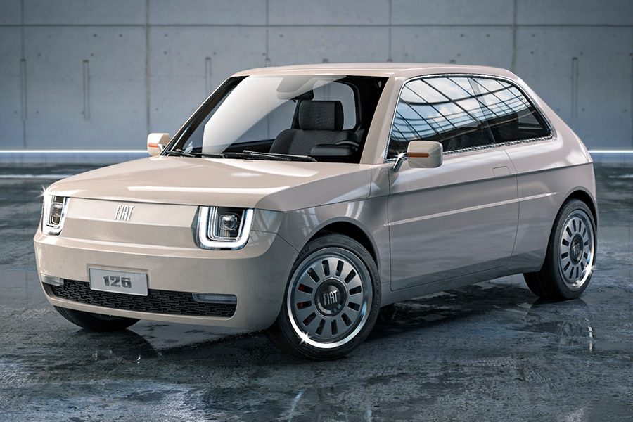 Fiat 126 Vision front view