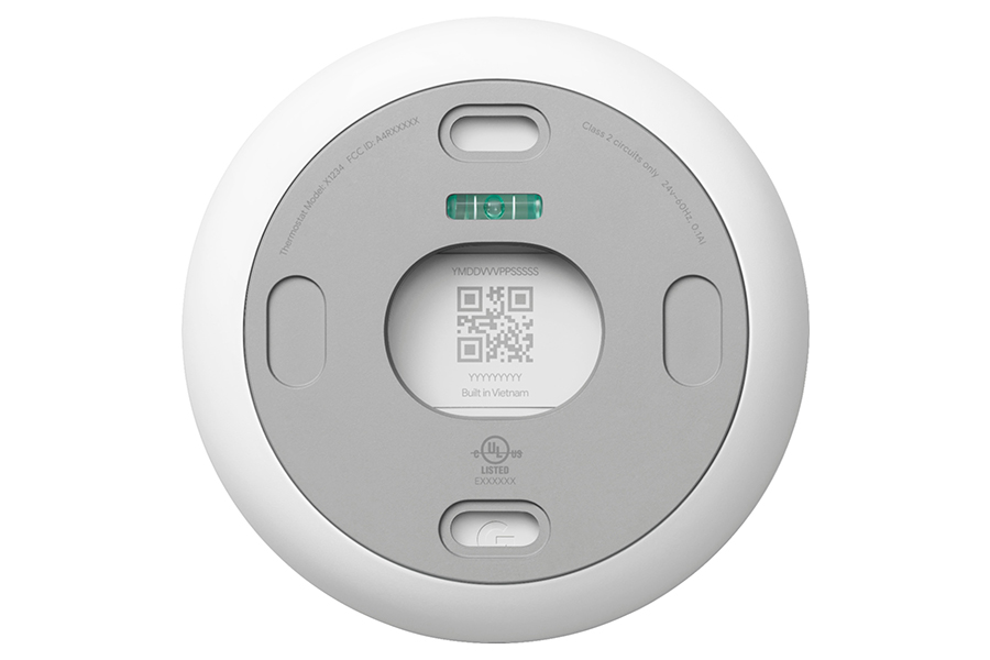 Google Thermostat back