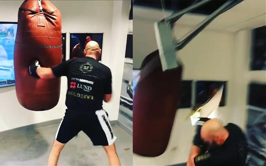 Tyson Fury vs. Punching Bag 1