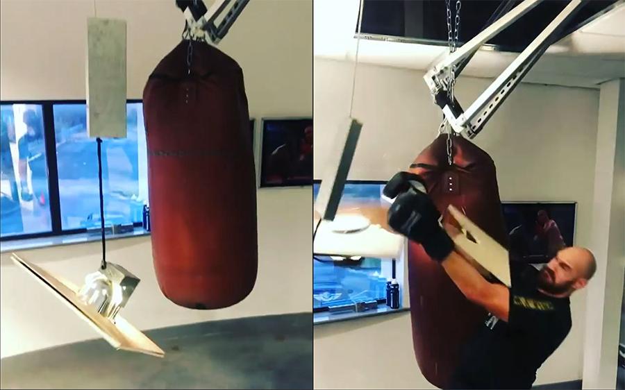Tyson Fury vs. Punching Bag 3