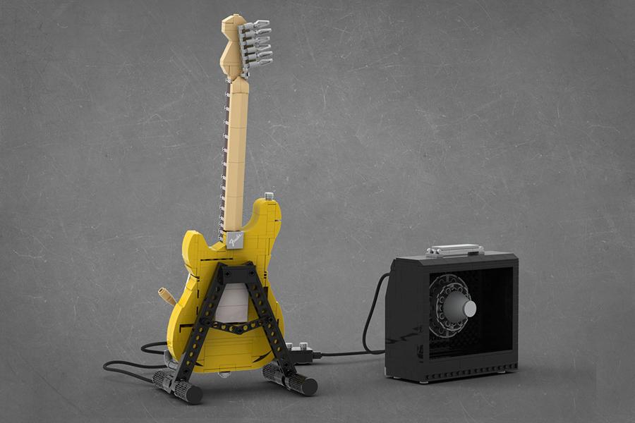 Lego Stratocaster back
