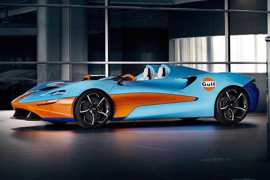 McLaren Elva Gulf side