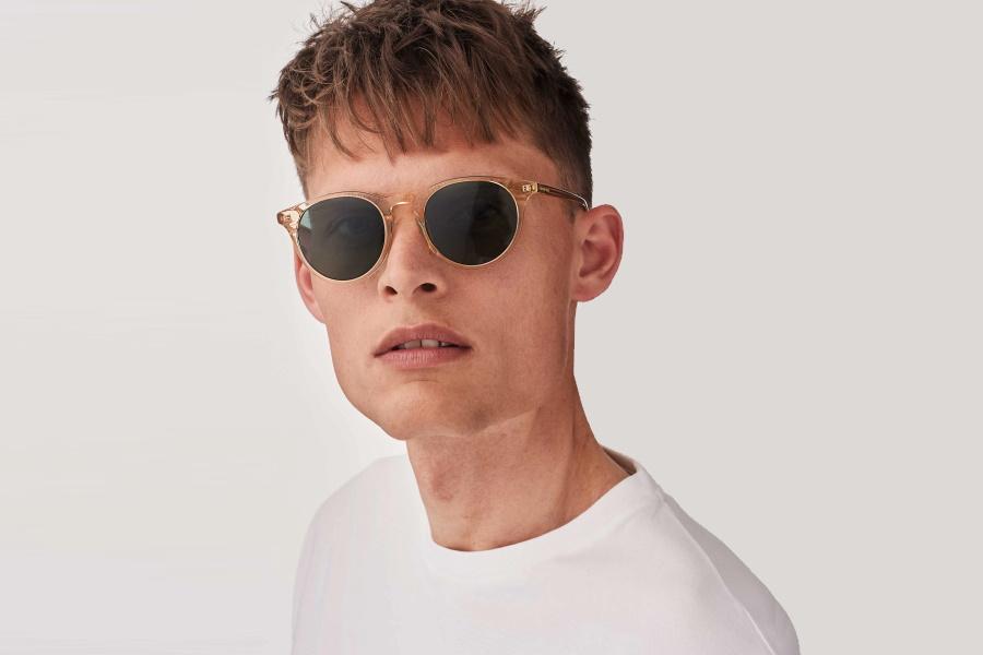 A man wearing sunglasses
