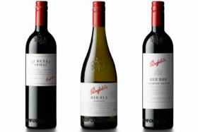Three Penfolds wine bottles
