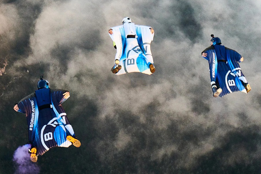 Peter Salzman BMW Electrified Wingsuit gliding