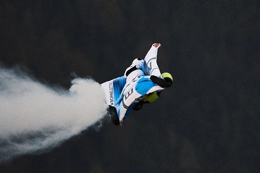 Peter Salzman BMW Electrified Wingsuit glide