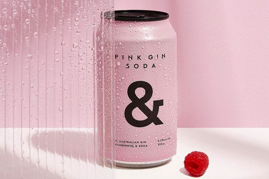 Can of Pink Gin Soda &