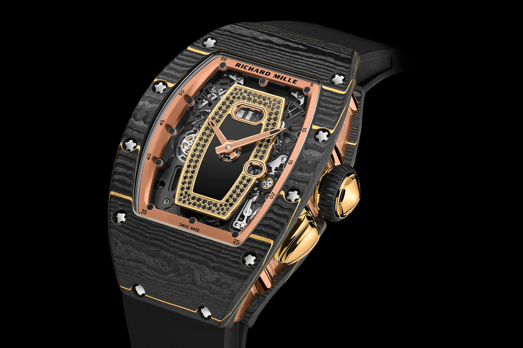 Richard Mille RM 07-01 made with new alloy Gold Carbon TPT