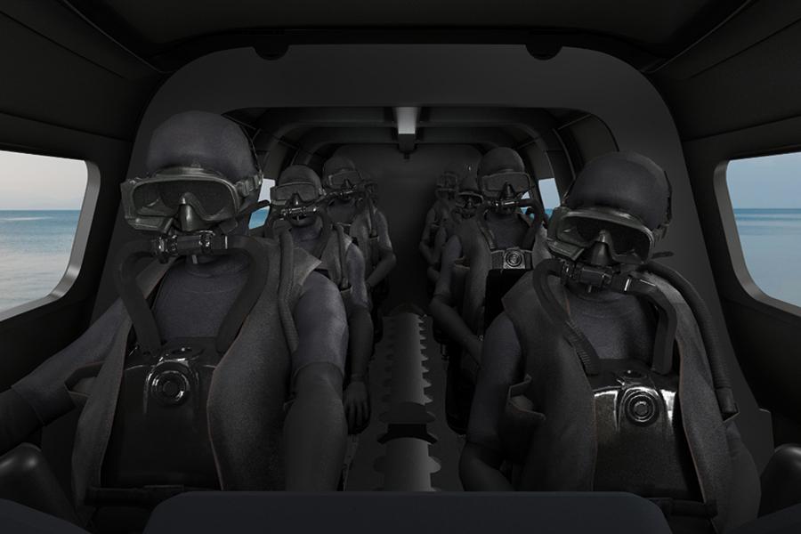 Subsea Victa Submarine seat