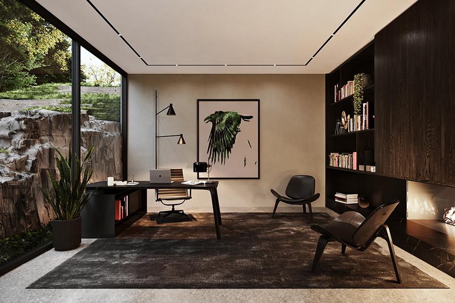 Sylvan Rock Aston Martin Designed house study area
