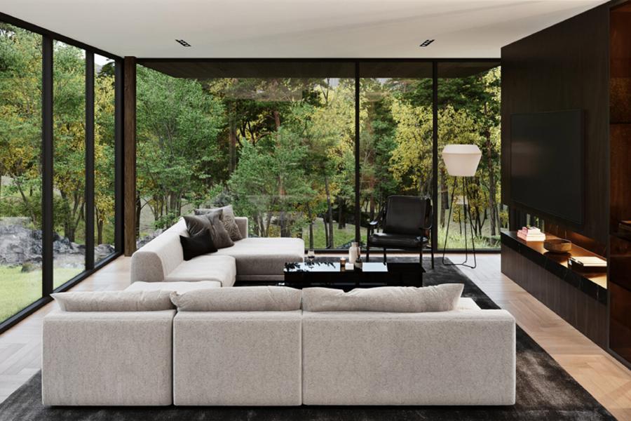 Sylvan Rock Aston Martin Designed house balcony