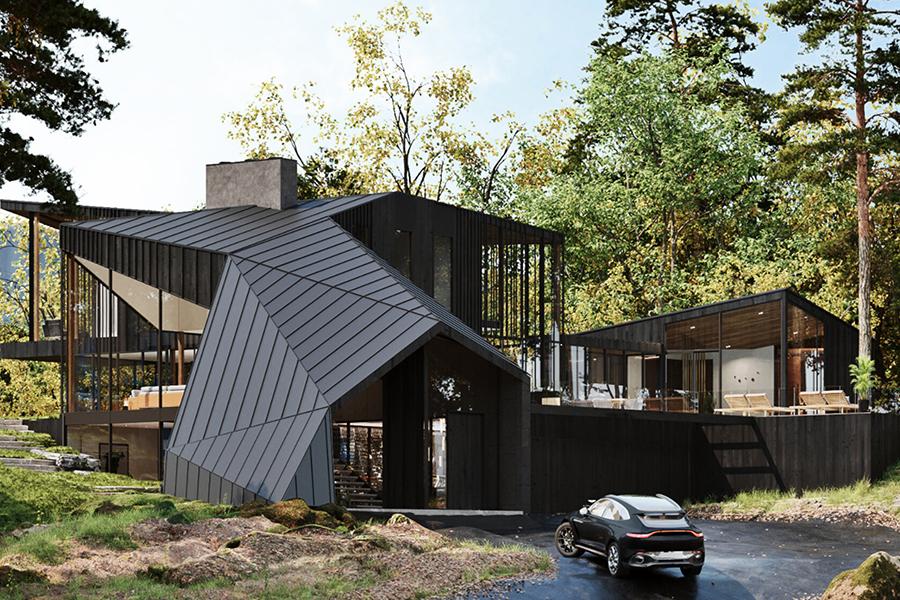 Sylvan Rock Aston Martin Designed house parking