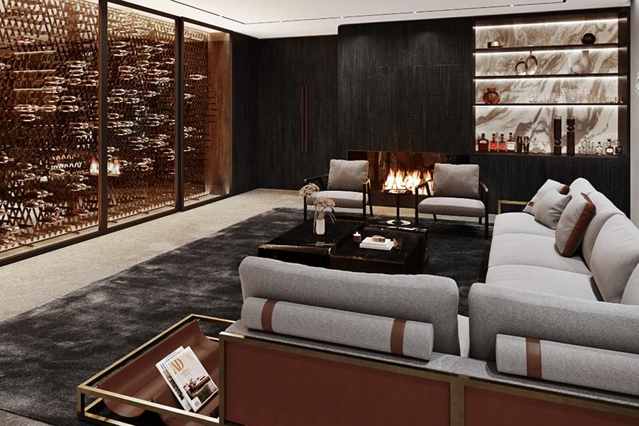 Sylvan Rock Aston Martin Designed house lounge area