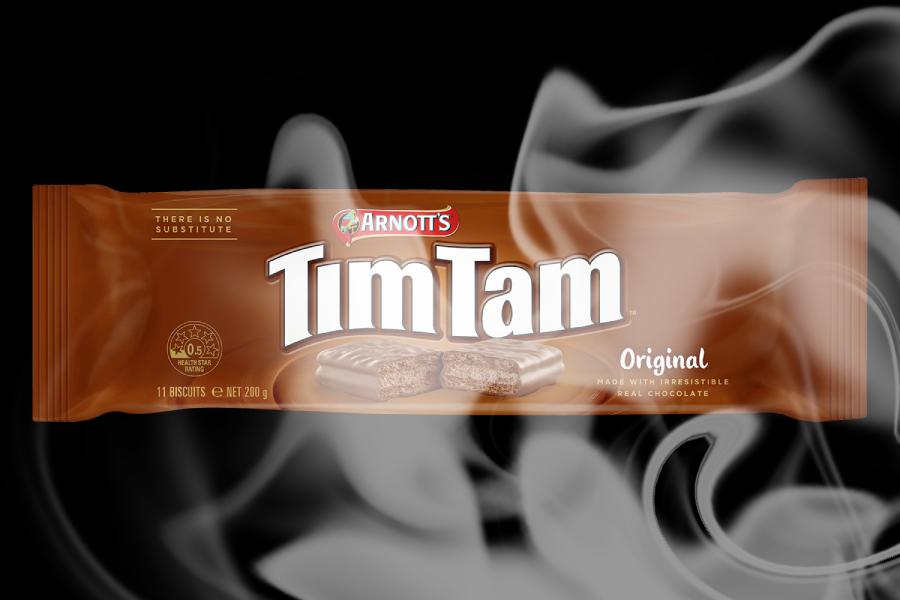 Arnott's Tim Tam chocolate wrapper