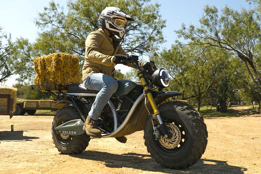 Volton Grunt Fear No Trail Electric Bike rider