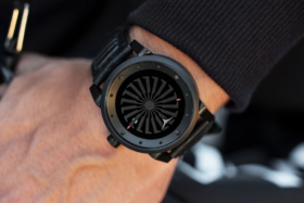 Zinvo Blade Phantom watch on a wrist