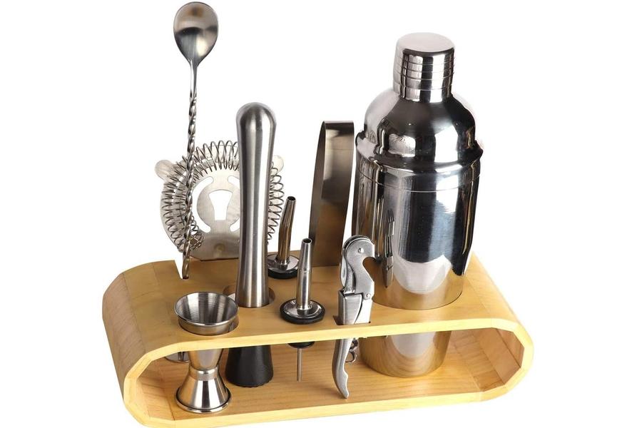 BRITOR Bartender Kit with Stand|Bar Set Cocktail Shaker Set