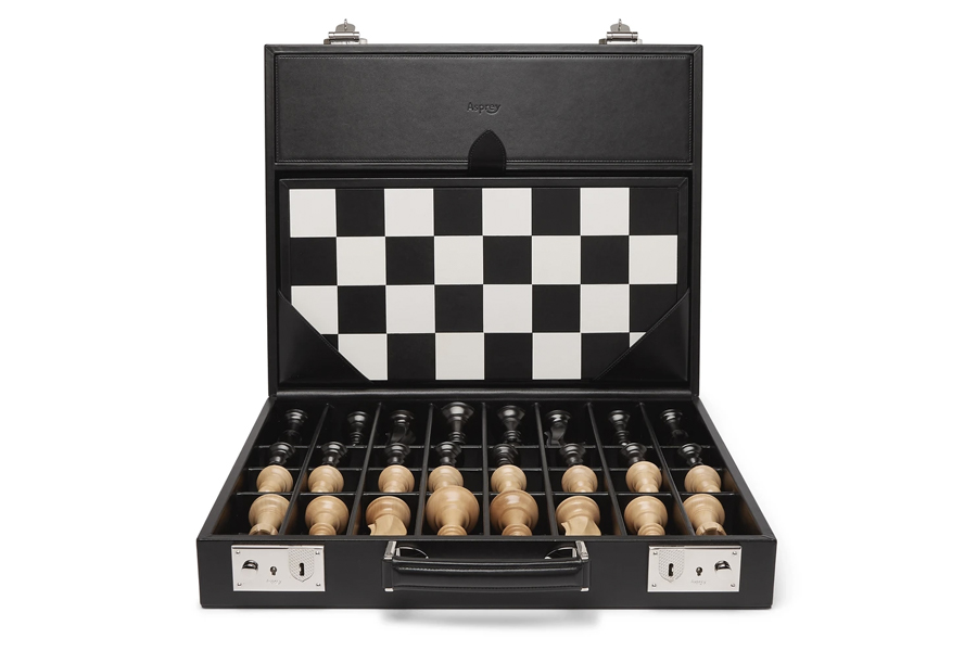 Best Chess Sets - Asprey Hanover Leather Chess Case